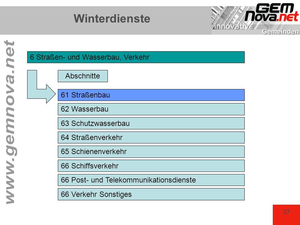 Winterdienste 6 Straßen- und Wasserbau, Verkehr Abschnitte