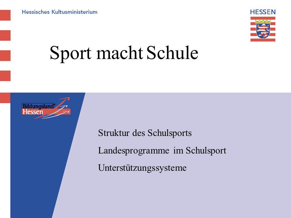 Sport macht Schule Struktur des Schulsports