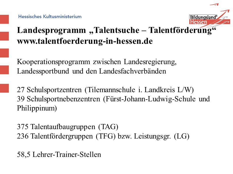 """Landesprogramm """"Talentsuche – Talentförderung"""