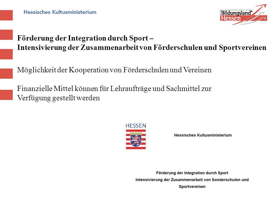 Förderung der Integration durch Sport –