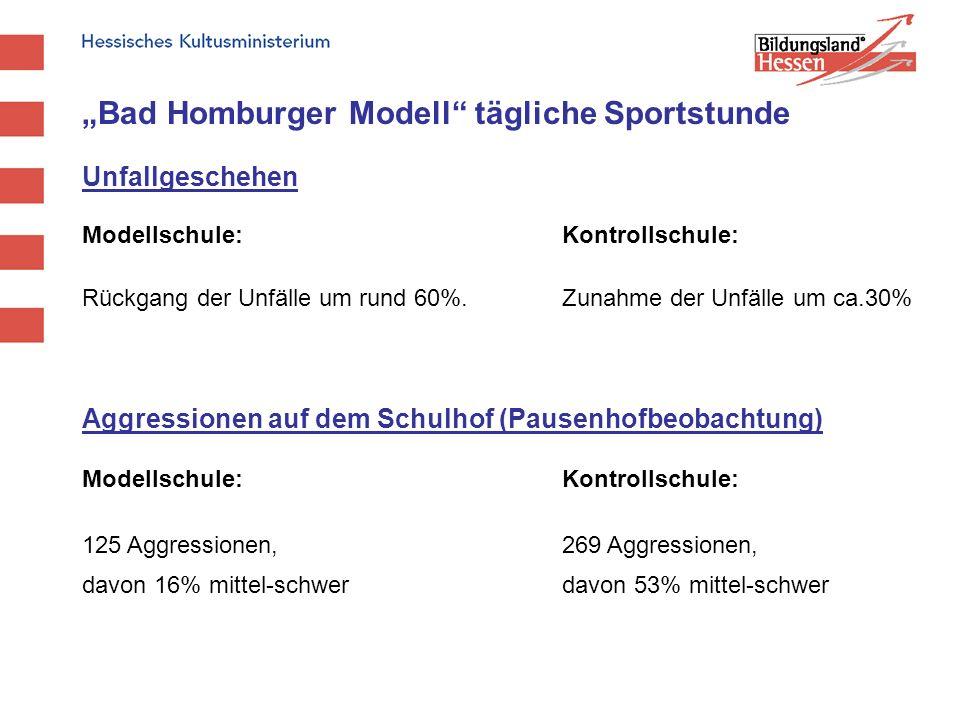 """Bad Homburger Modell tägliche Sportstunde"