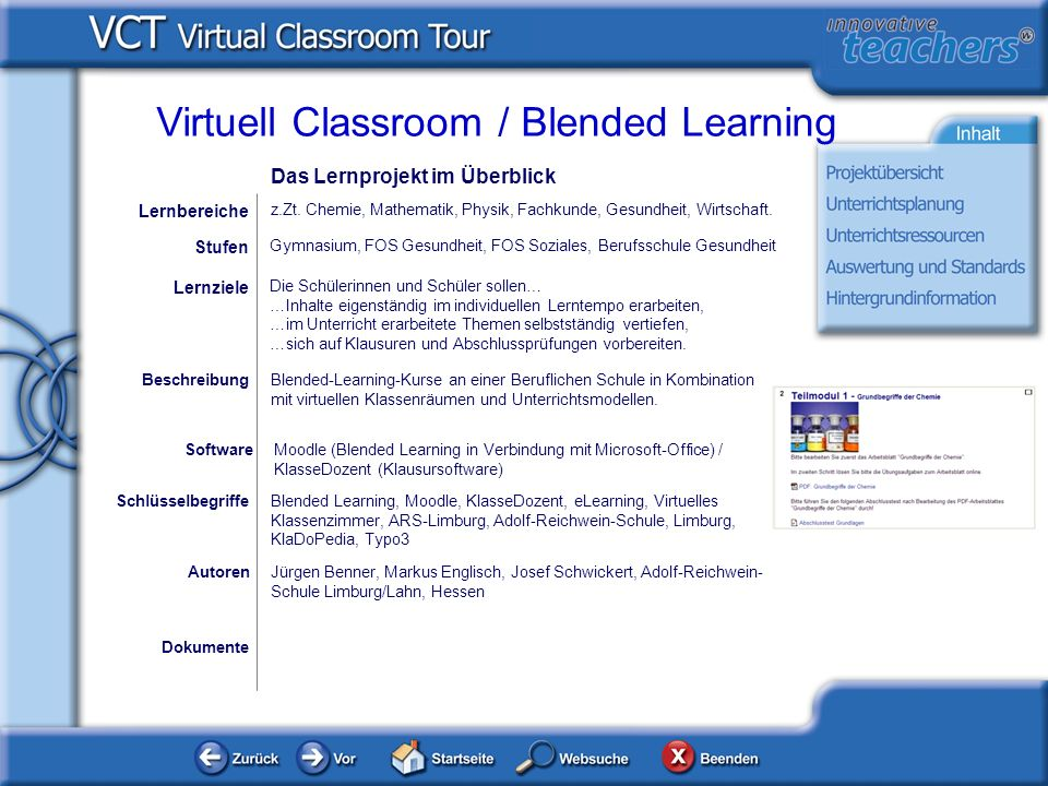 Virtuell Classroom / Blended Learning