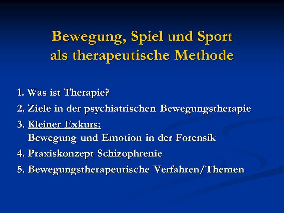 Bewegung, Spiel und Sport als therapeutische Methode