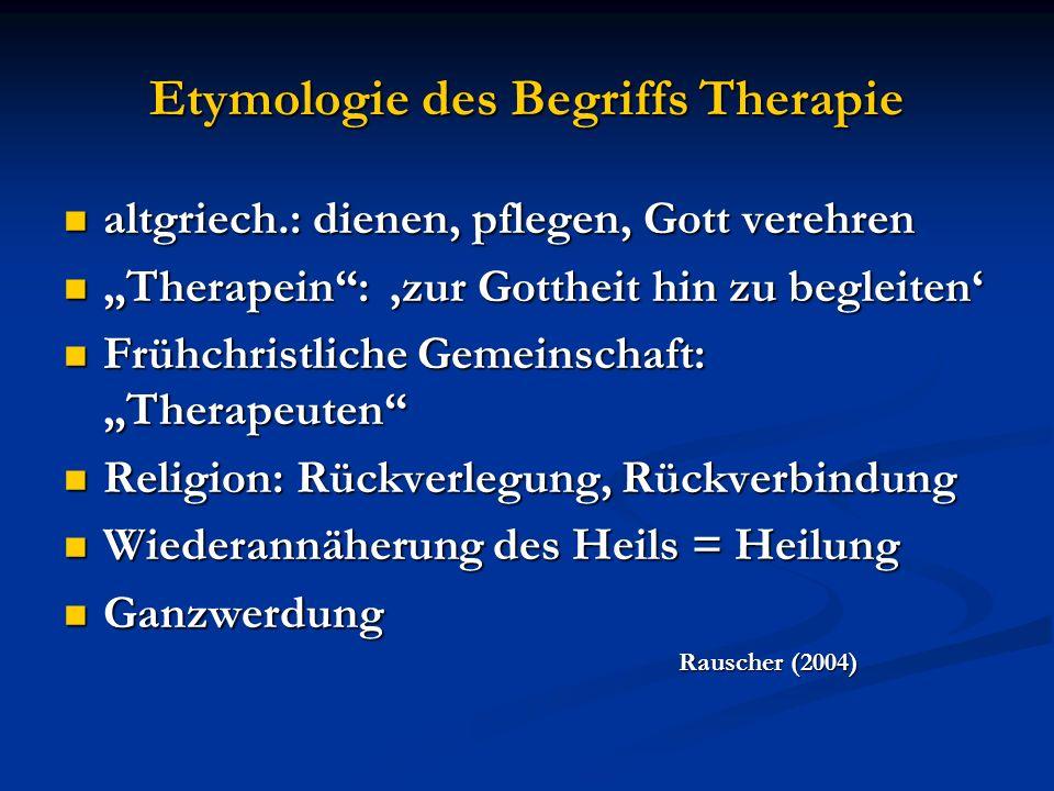 Etymologie des Begriffs Therapie