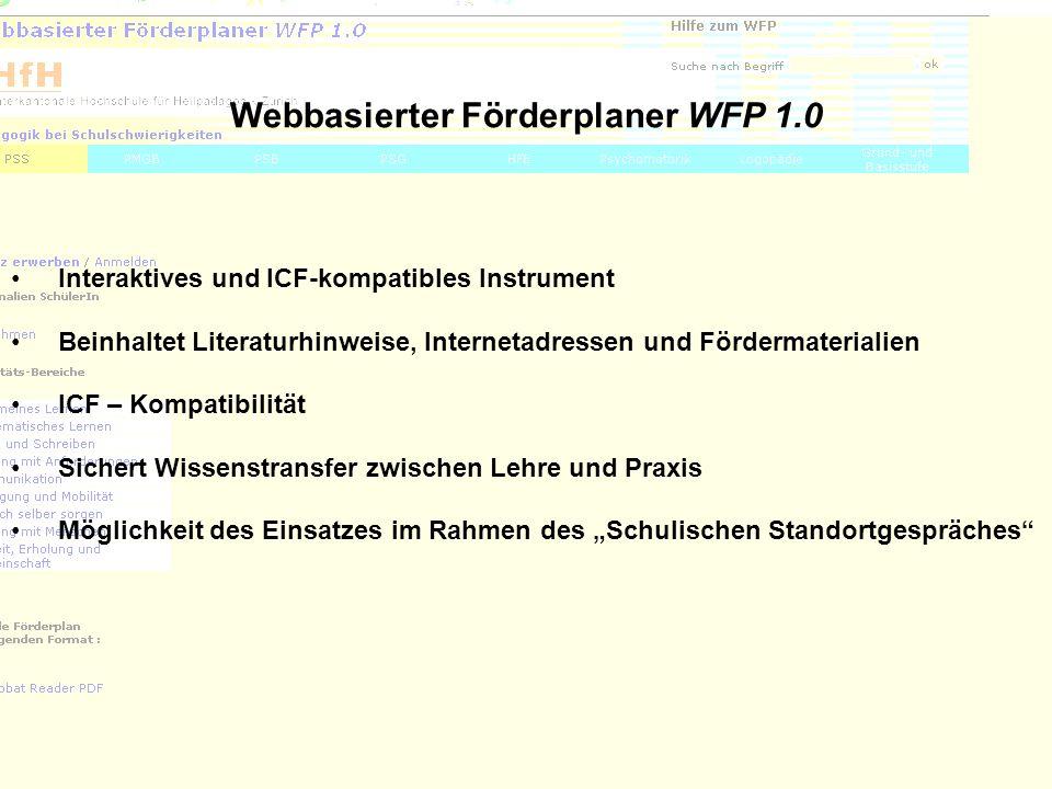 Webbasierter Förderplaner WFP 1.0