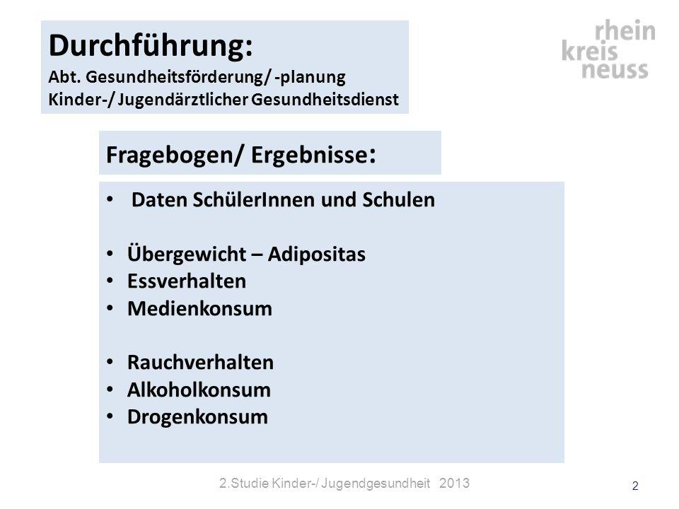 2.Studie Kinder-/ Jugendgesundheit 2013