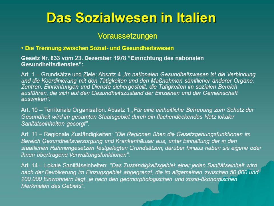 Das Sozialwesen in Italien