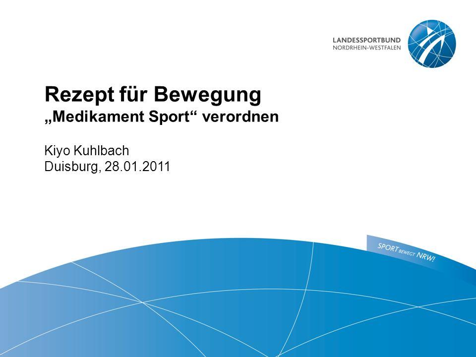 """Rezept für Bewegung """"Medikament Sport verordnen"""