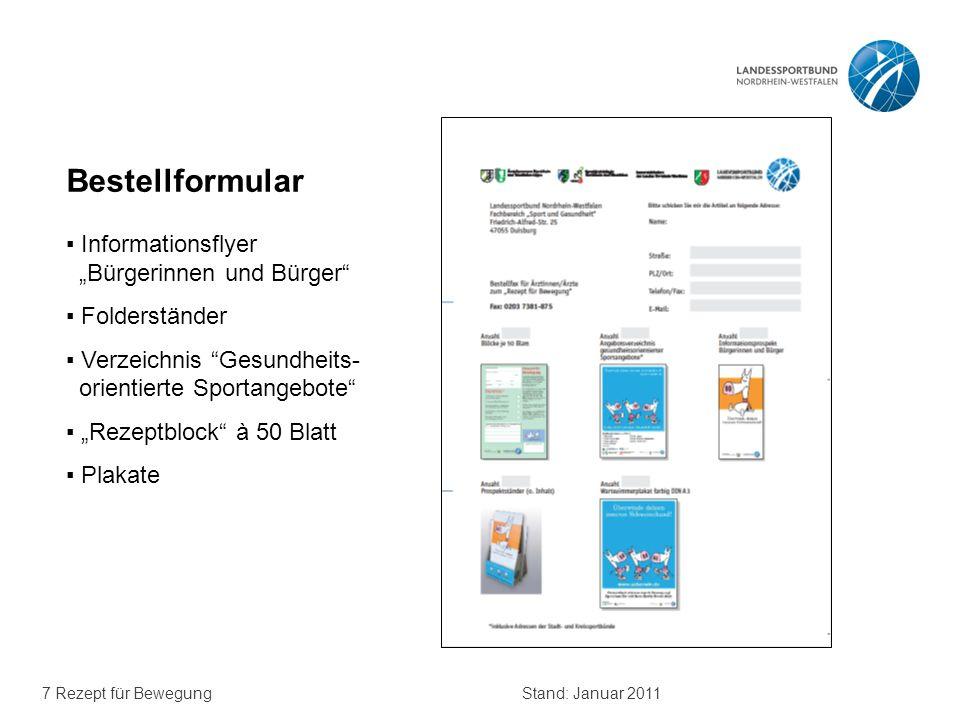 """Bestellformular ▪ Informationsflyer """"Bürgerinnen und Bürger"""