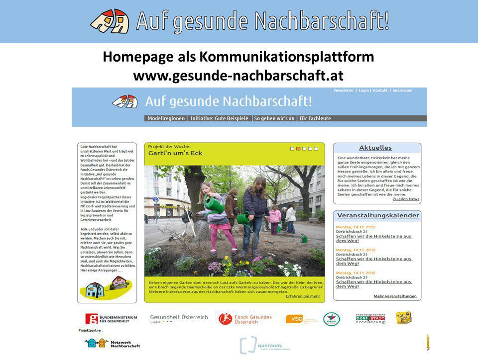 Homepage als Kommunikationsplattform
