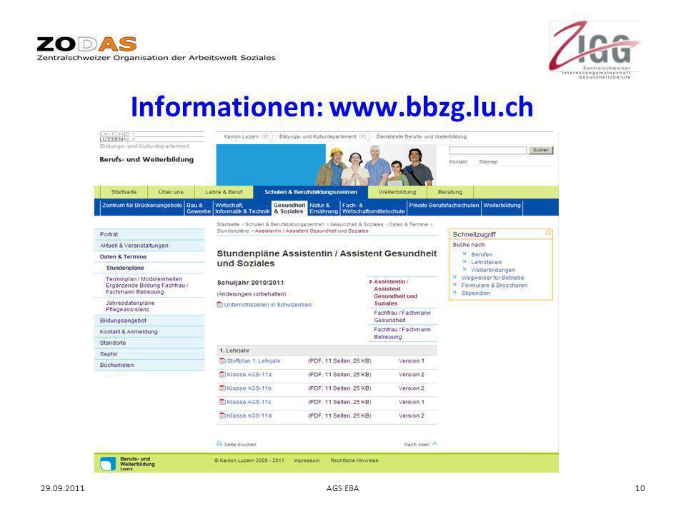 Informationen: www.bbzg.lu.ch