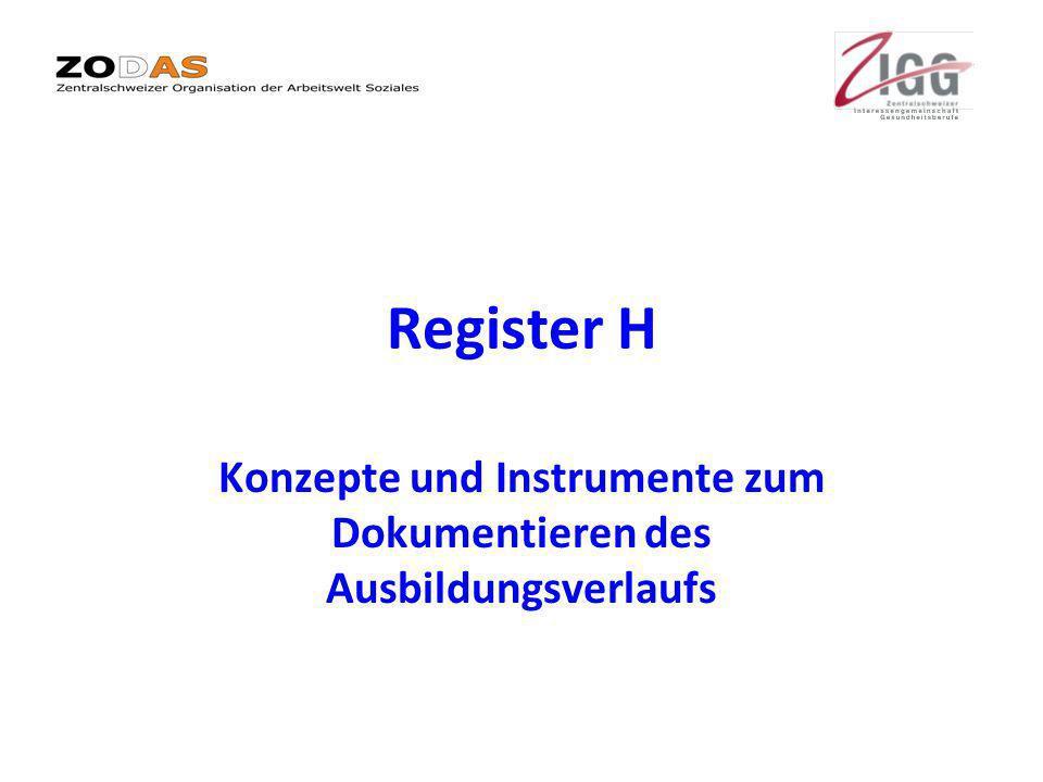 Konzepte und Instrumente zum Dokumentieren des Ausbildungsverlaufs