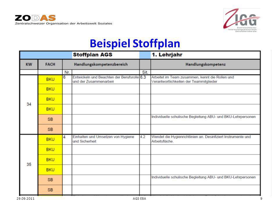 Beispiel Stoffplan 29.09.2011 AGS EBA