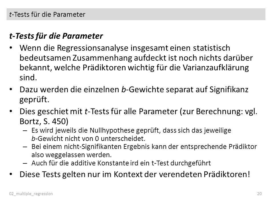t-Tests für die Parameter