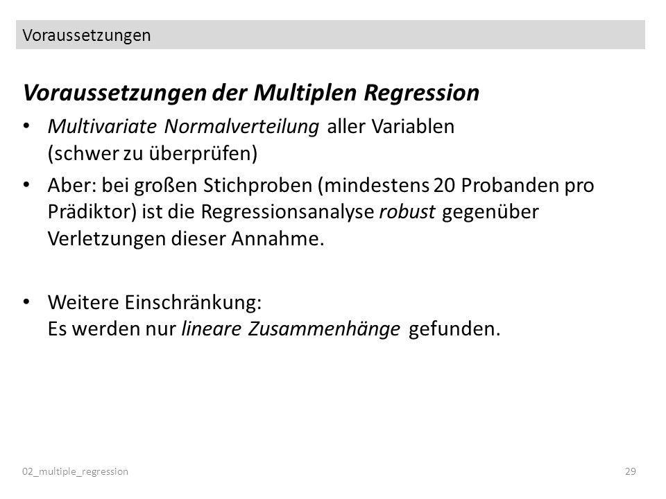 Voraussetzungen der Multiplen Regression