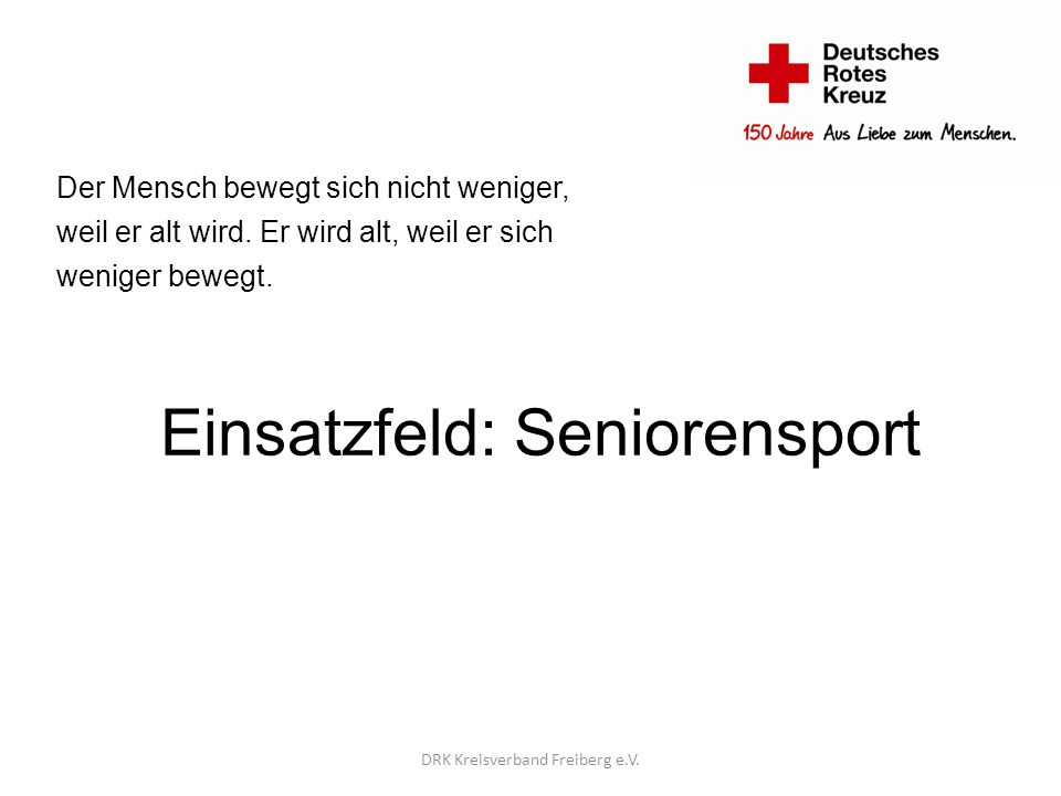 Einsatzfeld: Seniorensport