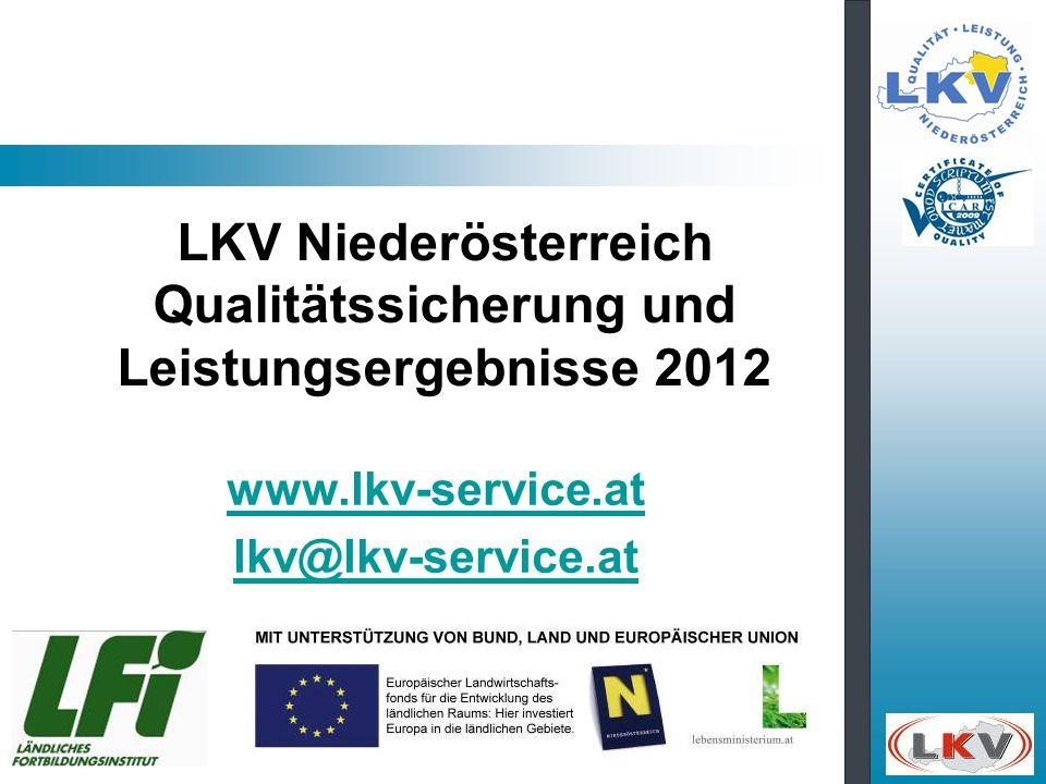 LKV Niederösterreich Qualitätssicherung und Leistungsergebnisse 2012