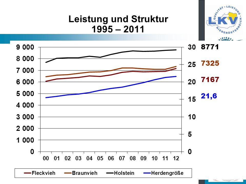 Leistung und Struktur 1995 – 2011