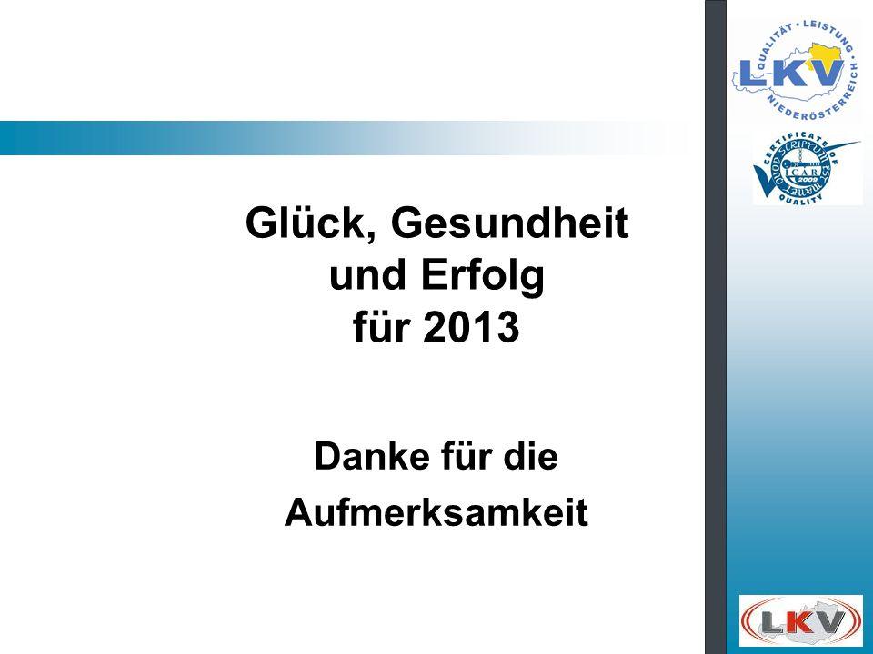 Glück, Gesundheit und Erfolg für 2013