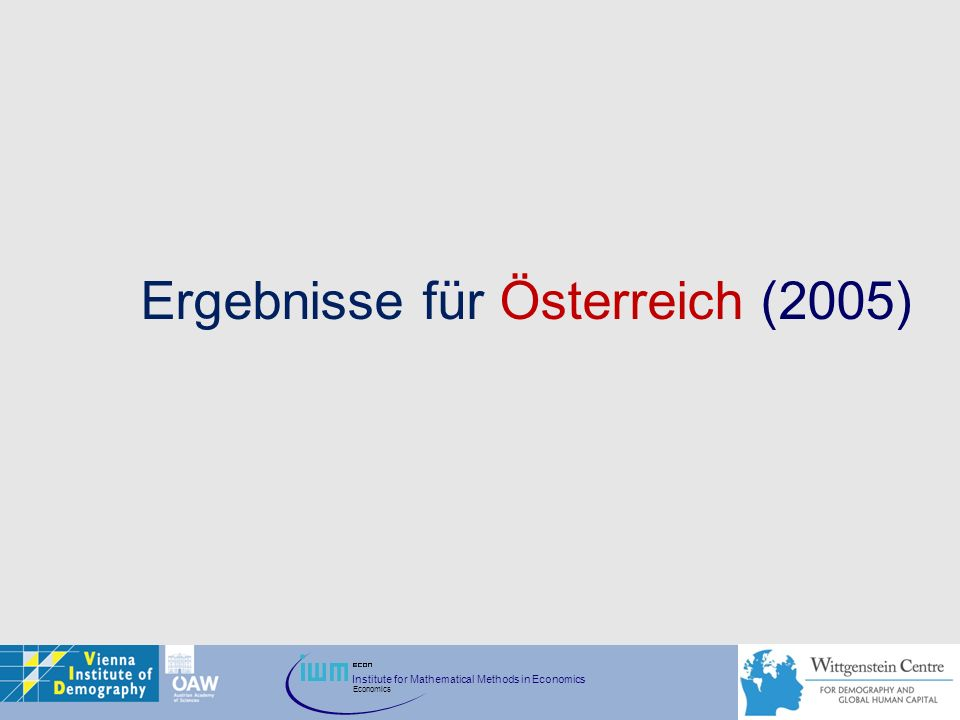 Ergebnisse für Österreich (2005)