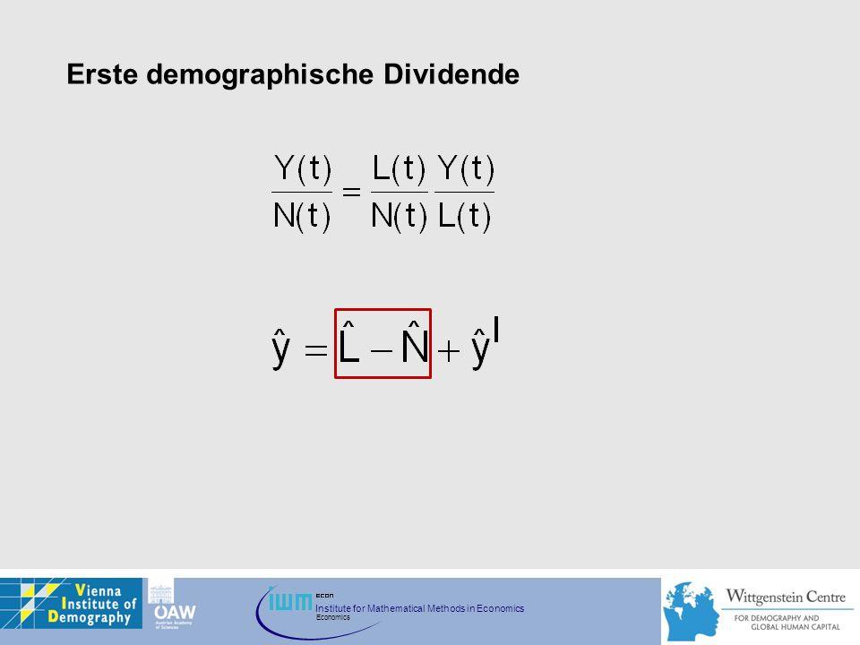 Erste demographische Dividende