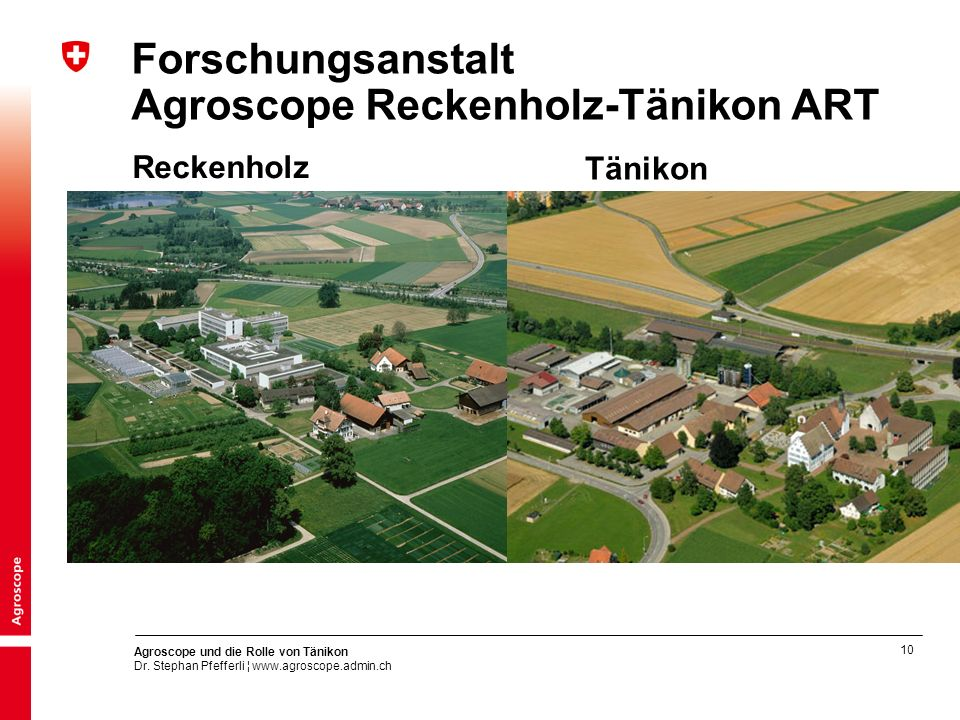Forschungsanstalt Agroscope Reckenholz-Tänikon ART