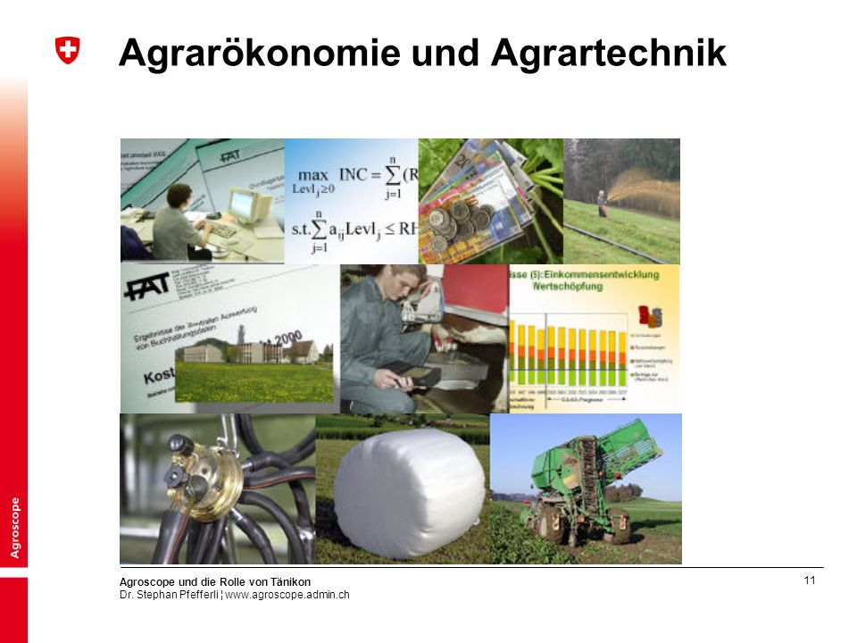 Agrarökonomie und Agrartechnik