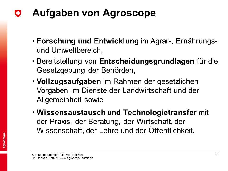 Aufgaben von Agroscope