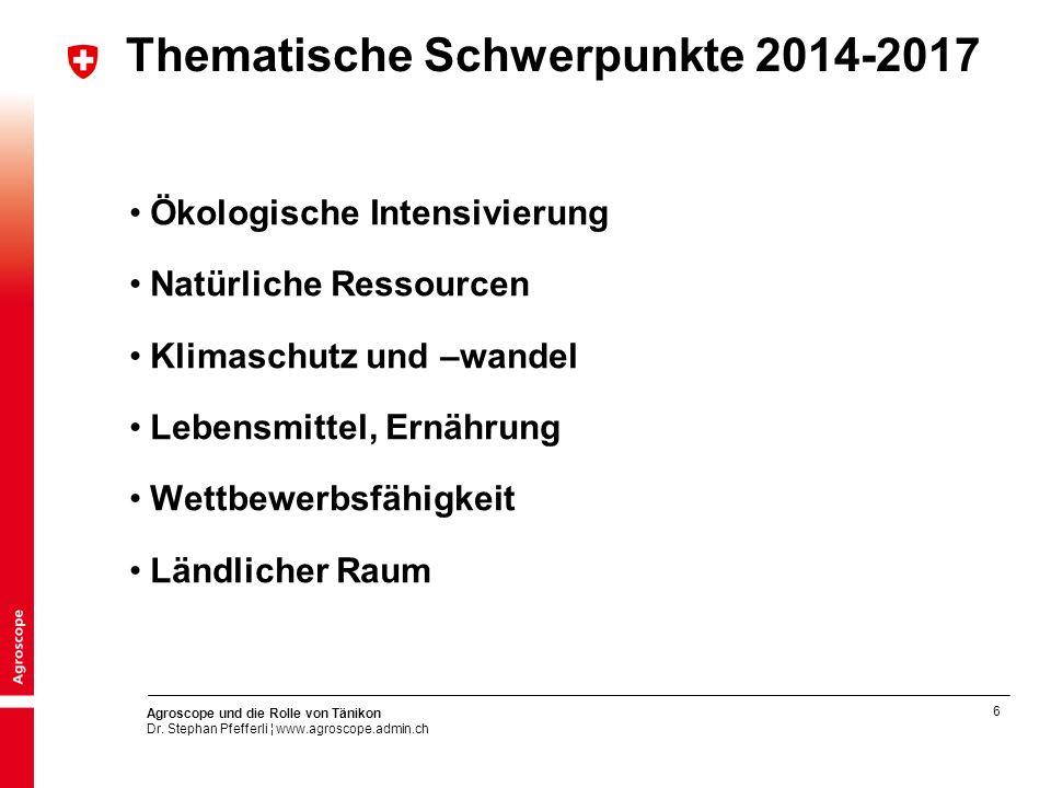 Thematische Schwerpunkte 2014-2017