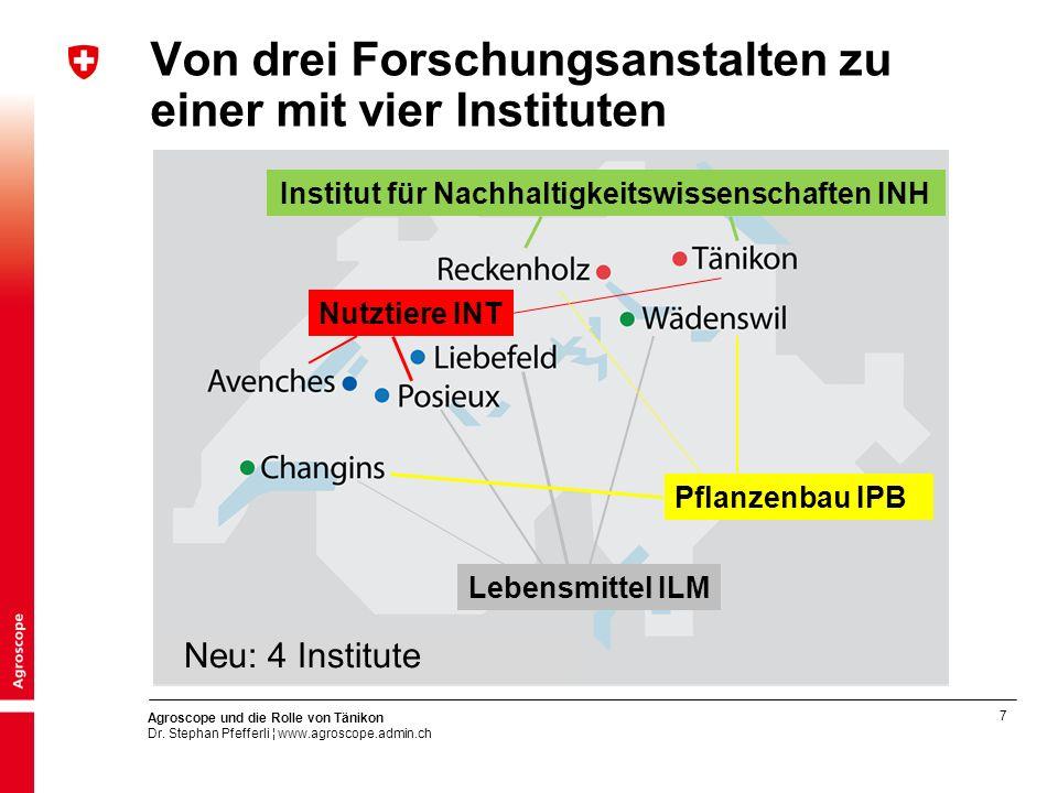 Von drei Forschungsanstalten zu einer mit vier Instituten