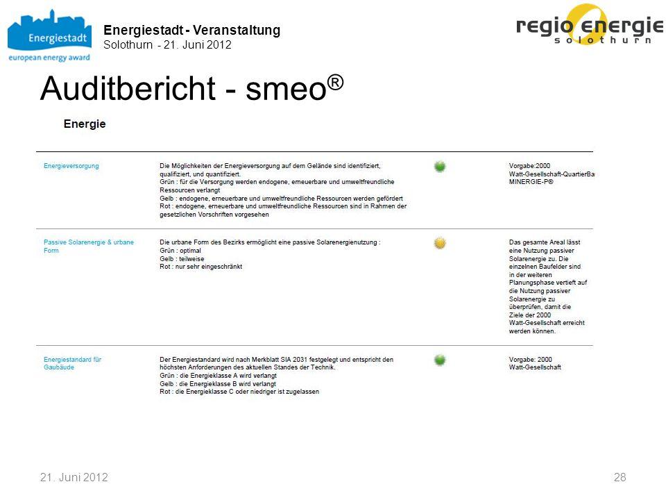 Auditbericht - smeo® 21. Juni 2012
