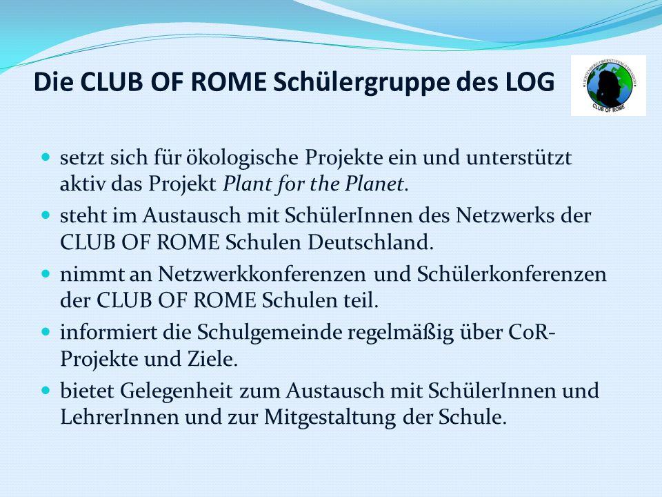 Die CLUB OF ROME Schülergruppe des LOG
