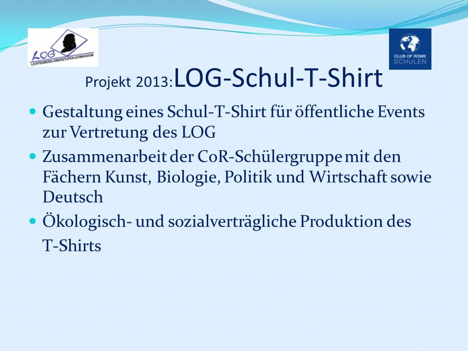 Projekt 2013:LOG-Schul-T-Shirt