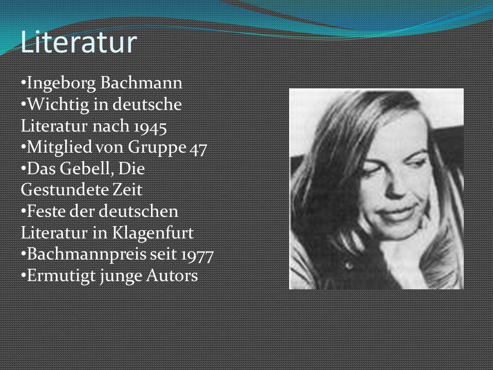 Literatur Ingeborg Bachmann Wichtig in deutsche Literatur nach 1945