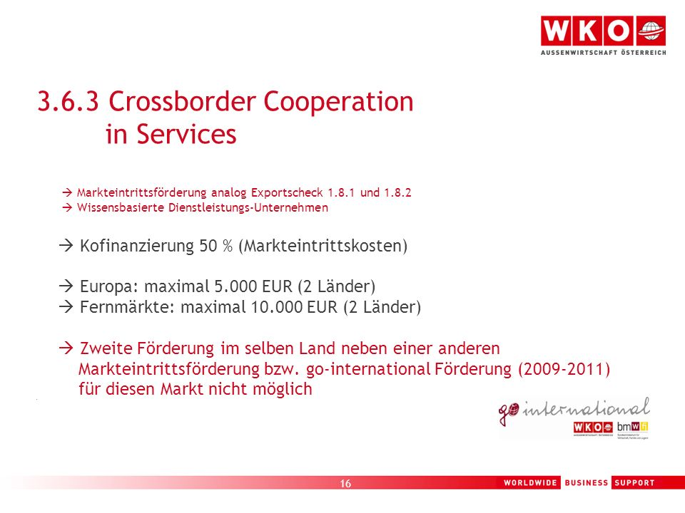 3.6.3 Crossborder Cooperation in Services