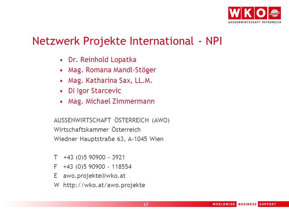 Netzwerk Projekte International - NPI