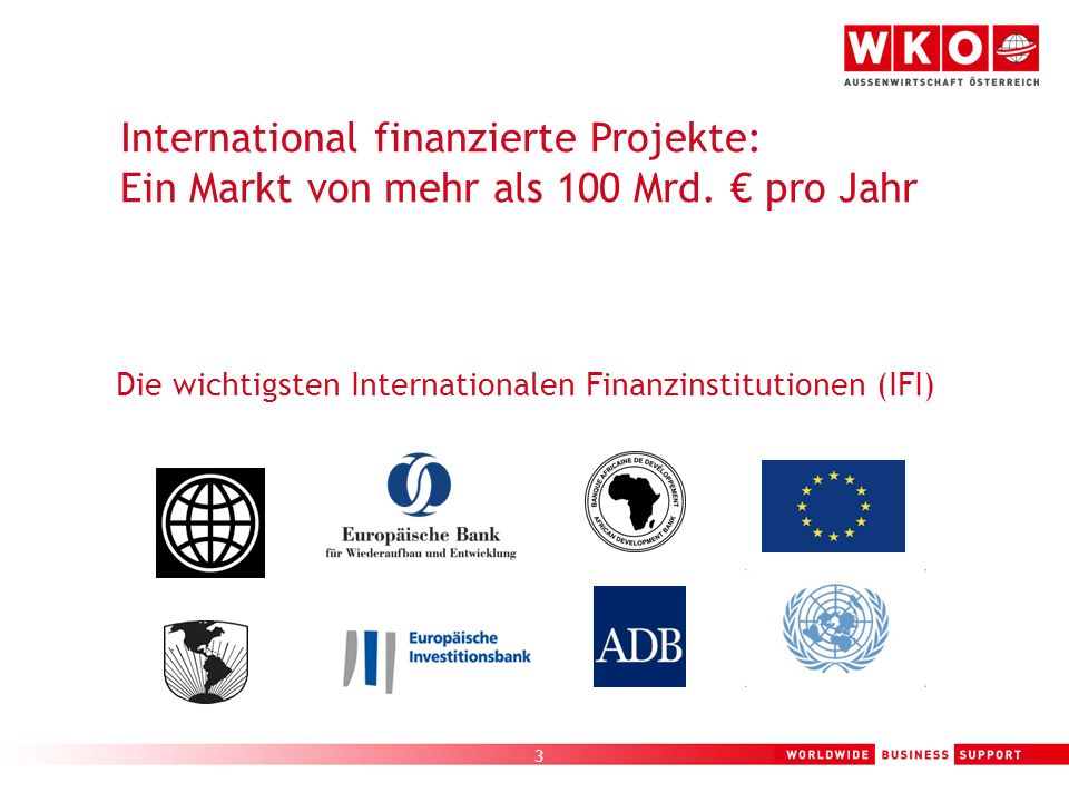 International finanzierte Projekte: