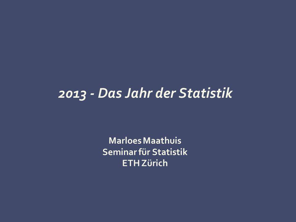 2013 - Das Jahr der Statistik