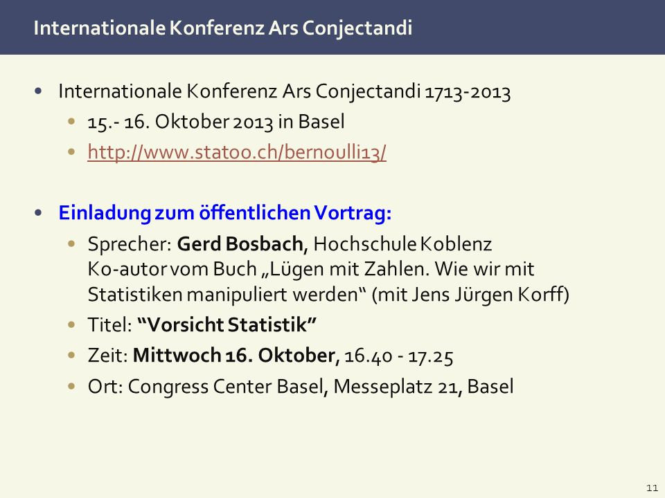 Internationale Konferenz Ars Conjectandi