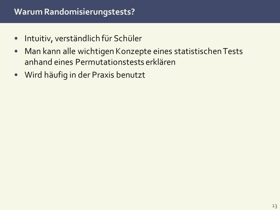 Warum Randomisierungstests