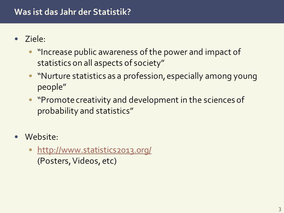 Was ist das Jahr der Statistik