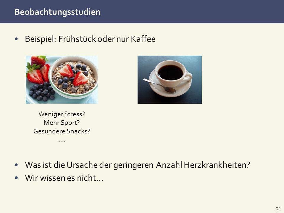 Beispiel: Frühstück oder nur Kaffee