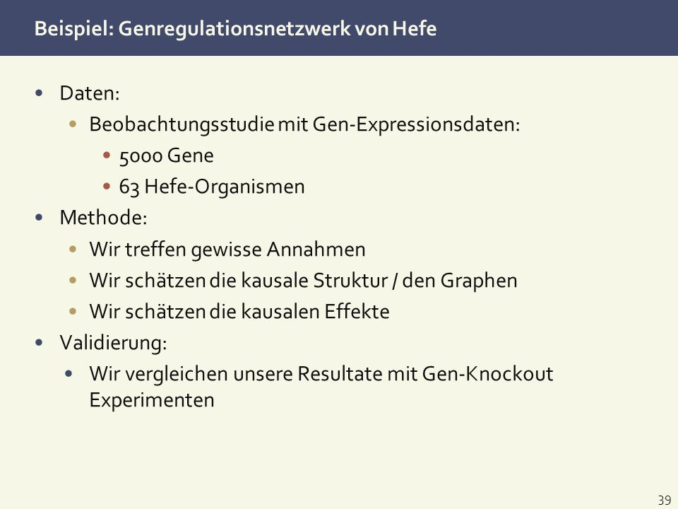 Beispiel: Genregulationsnetzwerk von Hefe