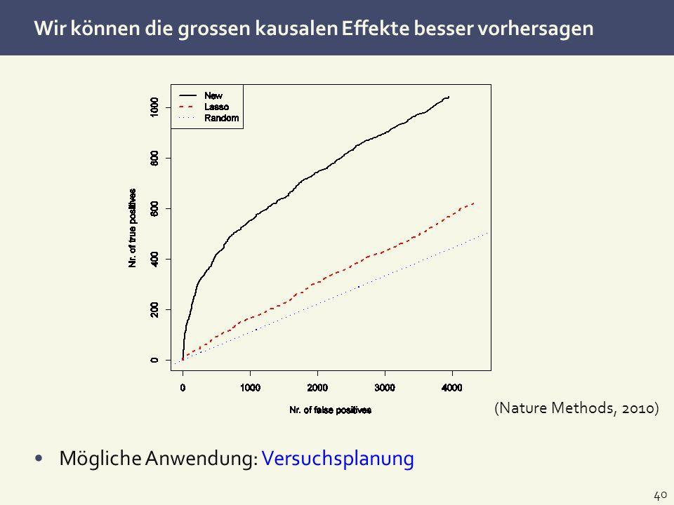 Wir können die grossen kausalen Effekte besser vorhersagen