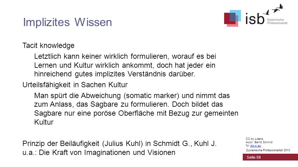 Implizites Wissen Tacit knowledge