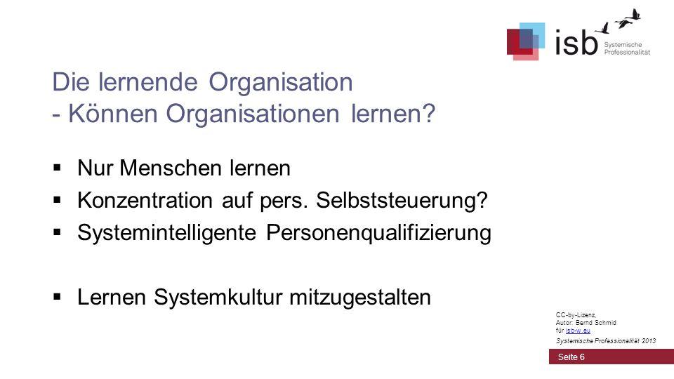 Die lernende Organisation - Können Organisationen lernen