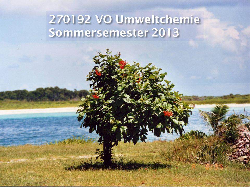 270192 VO Umweltchemie Sommersemester 2013