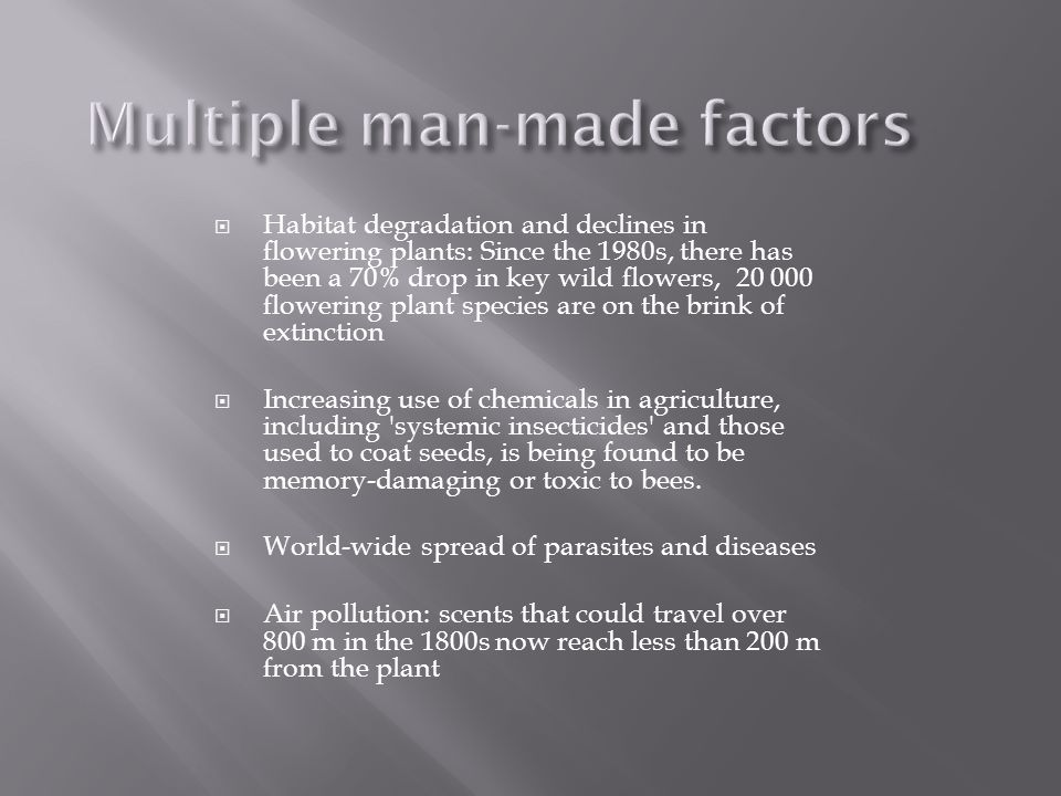 Multiple man-made factors