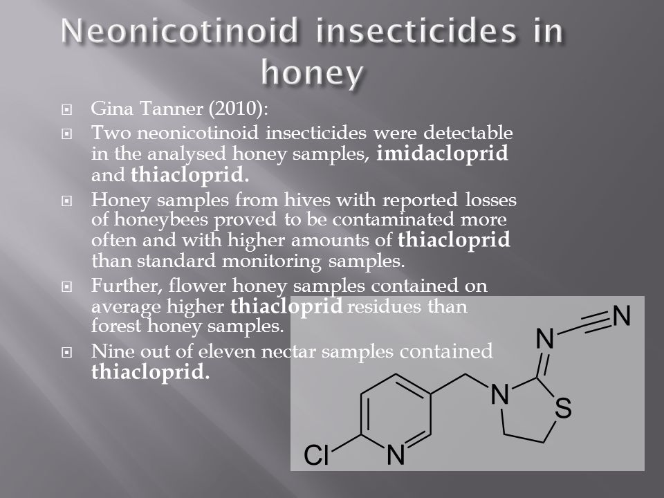 Neonicotinoid insecticides in honey