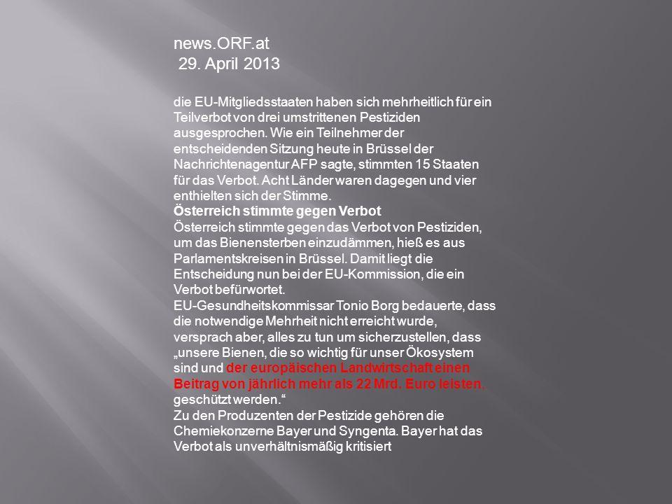 news.ORF.at 29. April 2013.